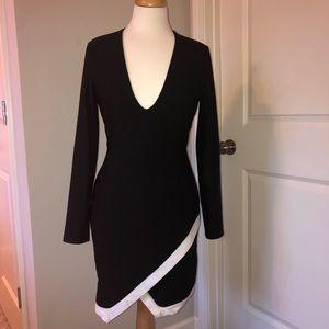 Missguided Black & White Dress